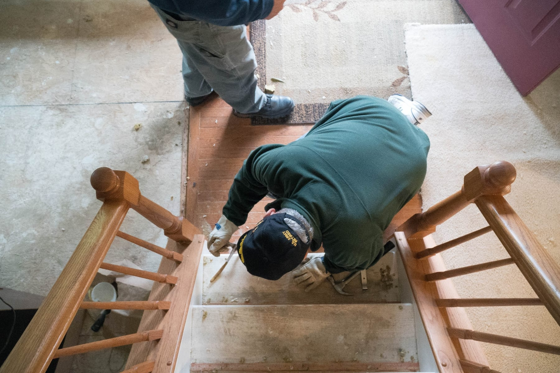 Much of the work on The Higher Standard Project has been done by veterans like Second Class Petty Officer Brian Keys, some of whom use the hours working on the home to add to their own hours of community service.(Photo by Caleb Robertson for Our York Media)