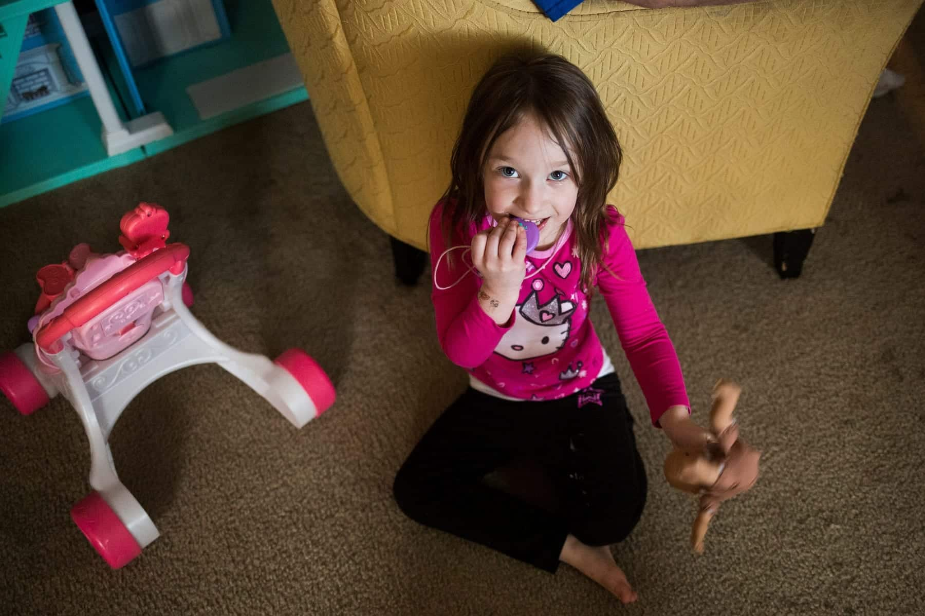 All three of the Schrum children have some form of special needs, making little things like making and eating dinner tough for the family. Zara, 2, has Caudal regression syndrome, a disease similar to spinal bifida. Her sister Marielynn, 4, has a form of autism.  (Photos by Paul Chaplin for Our York Media)