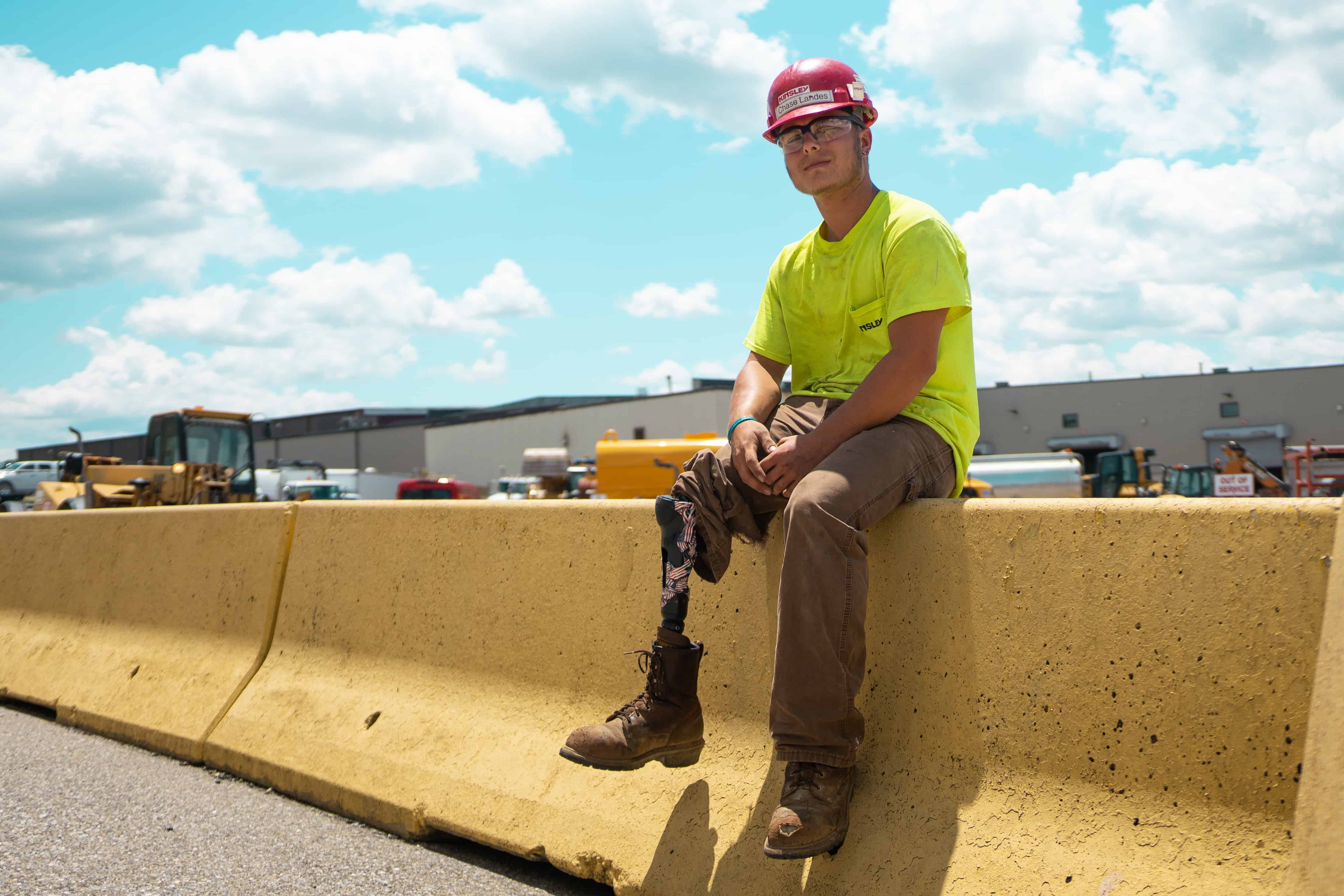 Motorcycle crash doesn't end career of Kinsley Construction